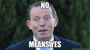 Yes Meme - no means yes tonny abbott meme stop aussie memes