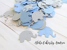 Elephant Decorations For Baby Shower Amazon Com Blue And Gray Elephants Table Confetti Its A Boy