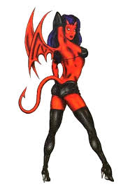 naughty devil with wings temporary body art tattoos 2 5 u0027 x
