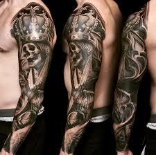 skull king arm sleeve by nikko hurtado tattoos tats