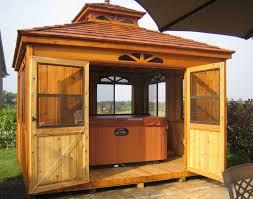 build a cabana red cedar rectangle cabanas cabanas by style gazebocreations com
