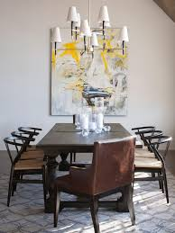 photos hgtv eclectic dining room with modern art wall hanging