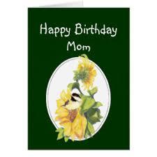 sunflower birthday for moms cards greeting u0026 photo cards zazzle