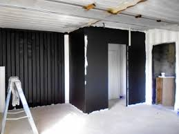 aluminum kitchen cabinets in our shipping container house in