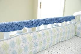 ravelry crochet crib rail guards pattern by katie rose pryal