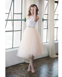 tulle skirt bridesmaid aliexpress buy free shipping pink simple midi tulle skirt