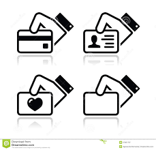 Business Card Credit Hand Holding Credit Card Business Card Icons Royalty Free Stock