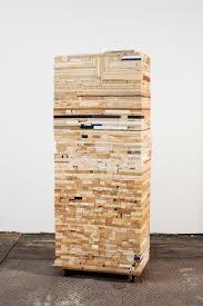 scrap wood sculpture damien hoar de galvan sculpture 2008 2011