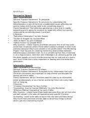 wittmeyer informative speech outline template coms 101