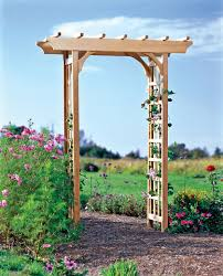 Trellis Arch Rose Trellis Cedar Rosedale Arch For Climbing Roses Gardener U0027s