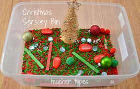 sensory play ideas for christmas week teacher types