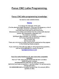 fanuc cnc lathe programming