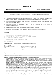 Tax Accounting Resume Resume Format For Accounting Jobs