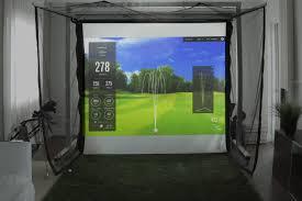retractable home theater screen par2pro u0027s online golf simulator u0026 analyzer superstore homecourse