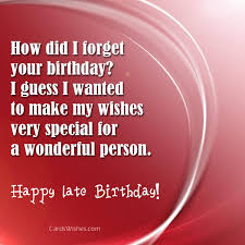 belated happy birthday wishes cards wishes