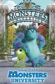 monsters university gate duo 22x34 movie poster disney pixar