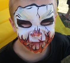 halloween face and body painting in redding ca by