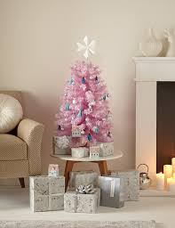 3ft pink flocked tree m s