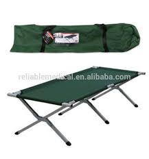 Folding Single Camping Bed Camouflage Aluminum Camping Bed Camouflage Aluminum Camping Bed
