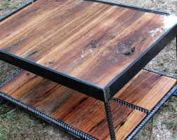 Wood Glass Coffee Table Wood And Glass Table Etsy
