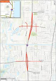 Map Of Fort Lauderdale Florida by I 95 Gateway Boynton Interchanges Project