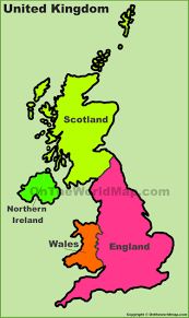 Wales England Map by Uk Countries Map