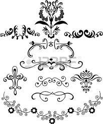 ornamental vector design elements royalty free cliparts vectors