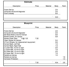 Auto Paint Shop Estimates by Business Feature Blueprint For Efficiency Shop Business