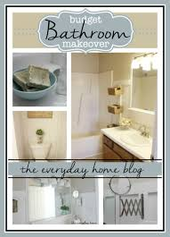 bathroom makeover on a budget the everyday home
