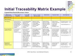 Requirements Traceability Matrix Template Excel Ime Att 3 Mita