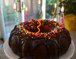 double chocolate birthday bundt cake my buttercup bubble