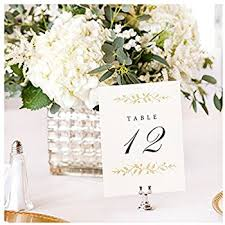 Wedding Table Cards Amazon Com Ling U0027s Moment Rustic Elegant Calligraphy Wooden Table