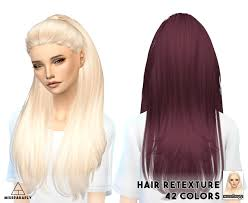 cc hair for sism4 my sims 4 blog hair retexture and headband by missparaply