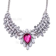 diamond necklace red images Fsn388 elegant women 39 s big heart diamond pendant necklace jpg