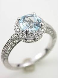antique aquamarine engagement rings vintage style aquamarine engagement ring rg 2955ab aquamarines