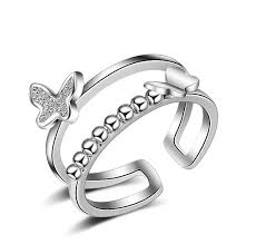 aliexpress buy new arrival white gold color aaa 2017 new design aaa cz white gold color butterfly ring