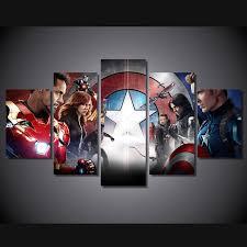 5 canvas civil war poster decorations for