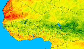 sahel desert map satellite based drought monitoring and crop yield forecasting in
