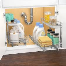 under the sink bathroom organizer roll out under sink cabinet organizer pull out two tier sliding