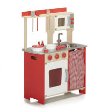 grande cuisine enfant cuisinière pour enfant en bois et accessoires multicolore ma