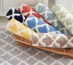 Modern Bathroom Rugs Marlo Bath Rug Pottery Barn Bathroom Rugs Meedee Designs