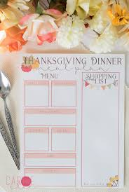 thanksgiving meal planning printables carrie
