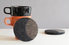 House Warming Gift Idea by Set Of Round Felt Coasters Grey Felt Coasters Round Coasters