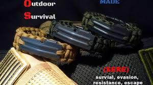 fire cord bracelet images 550 paracord sere edc survival bracelet w 550 fire cord by 0&