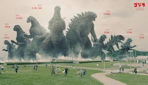 godzilla infographic shows how tiny he would be in modern tokyo