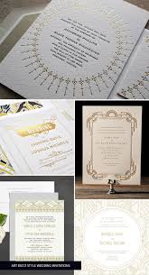 gold art deco wedding invitations invitation crush