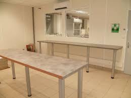 plan de travail sur pied cuisine plan de travail avec pied cuisine une tablebar modulable qui se