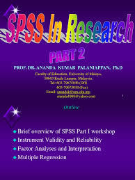spss in research part 2 by prof dr ananda kumar statistical