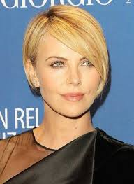 asymmetric fine hair bob hairstyle over 40 for round face for 2015 charlize theron asymmetrical short bob hairstyles 2017 hair