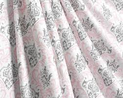 Pink And Grey Nursery Curtains Nursery Curtains Etsy